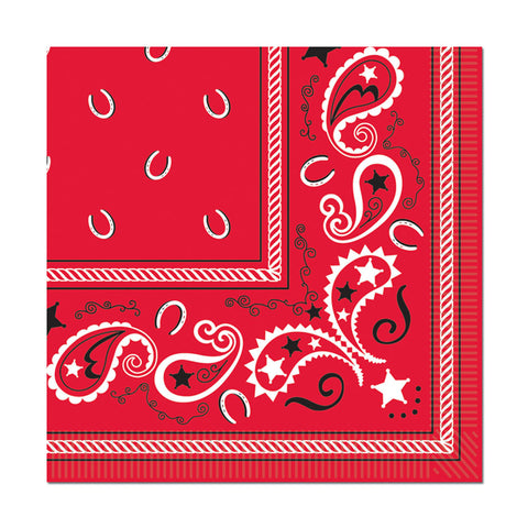 Bandana Beverage Napkins | 16 ct