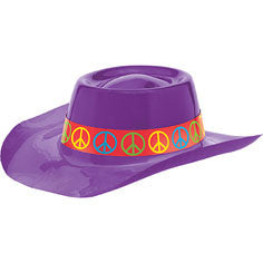 Purple Groovy 60's Cowboy Hat | 1 ct