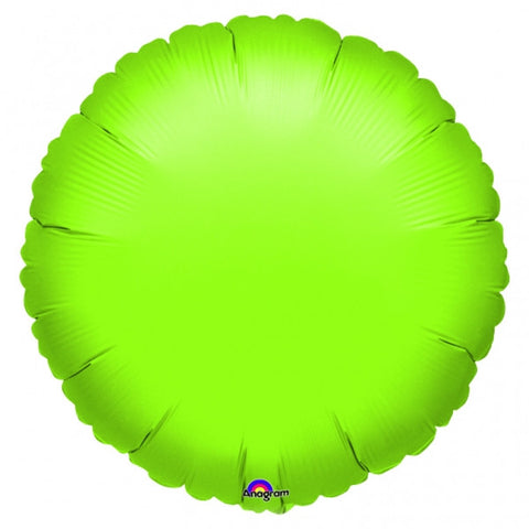 Metallic Lime Mylar Balloon, 18'' | 1 ct