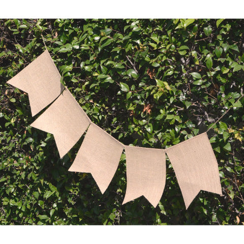 Jute Swallow Tail Banner | 1 ct