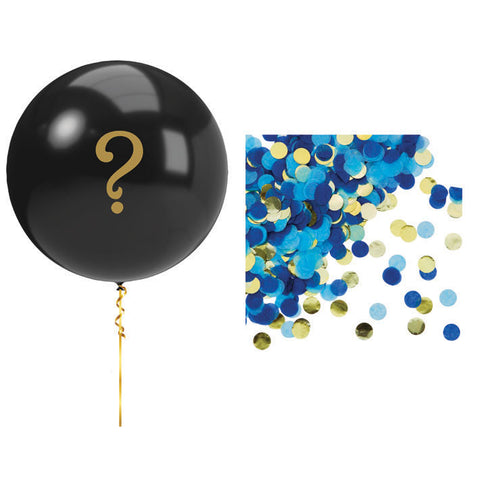 Blue gender reveal balloon 36"