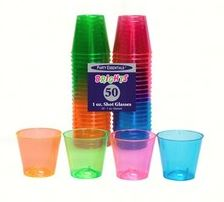 Brights Neon Plastic Shot Glasses Assrt | 50ct