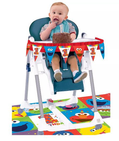 Elmo 1st Birthday High Chair Decorating Kit | 1kit