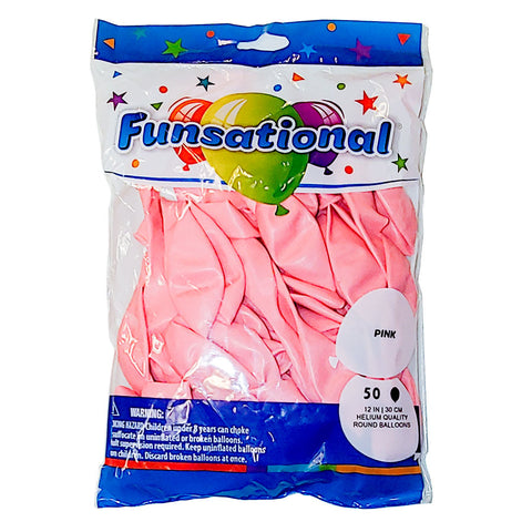 "Pink Funsational 12"" Latex Ballons 