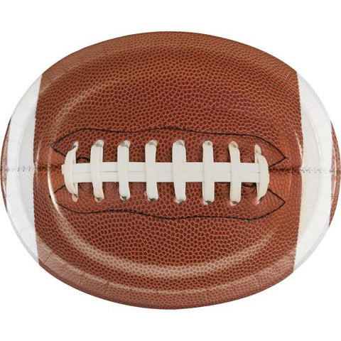 Touchdown Time Oval Plates Brown | 8ct