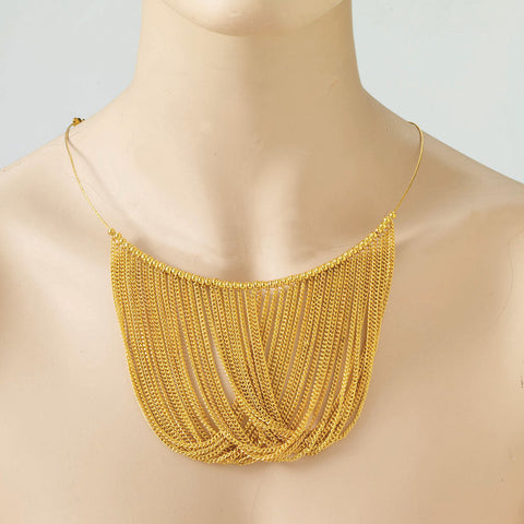 Gold Chain Disco Necklace | 1 ct