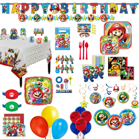 Super Mario Bros. Party Pack Deluxe | 16ct