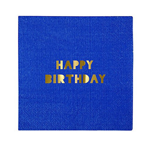 Happy Birthday Assorted Beverage Napkins | 16 ct