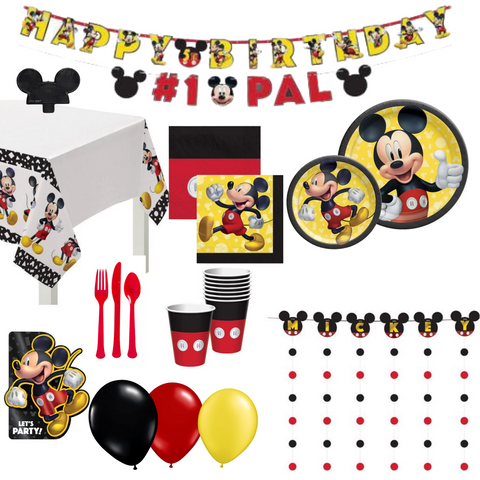 Mickey Mouse Party Pack Basic | 8 Guests