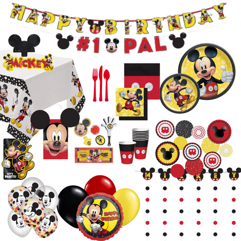 Mickey Mouse Party Pack Deluxe | 8 Guests