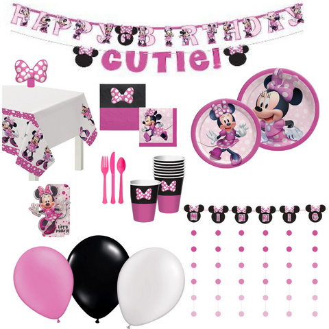 Minnie Mouse Party Pack Basic | 16 guests