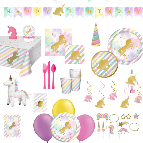 Sparkle Unicorn Party Pack Deluxe | 8 Guests