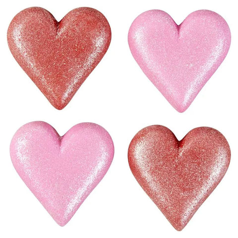 Wilton Icing Decorations Sparkling Heart 1"