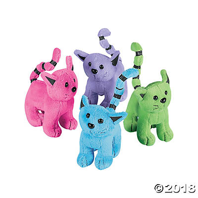 Assorted Plush Cats | 12ct