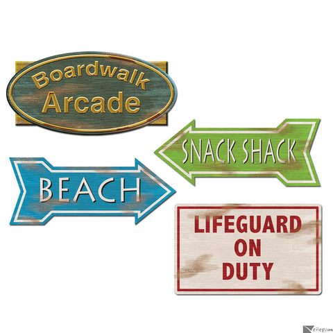Beach Sign Cutouts | 4ct