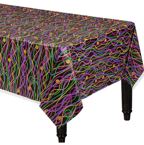 "Mardi Gras Beads Table Cover 54""x102"" 