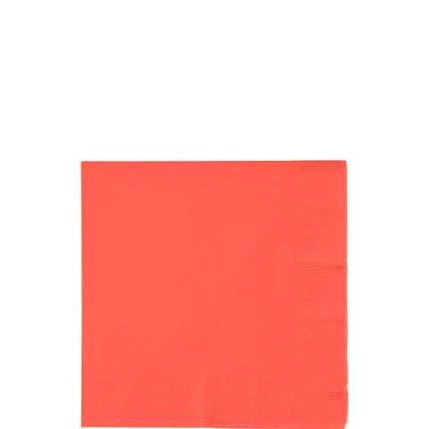 Coral Beverage Napkins | 50 ct