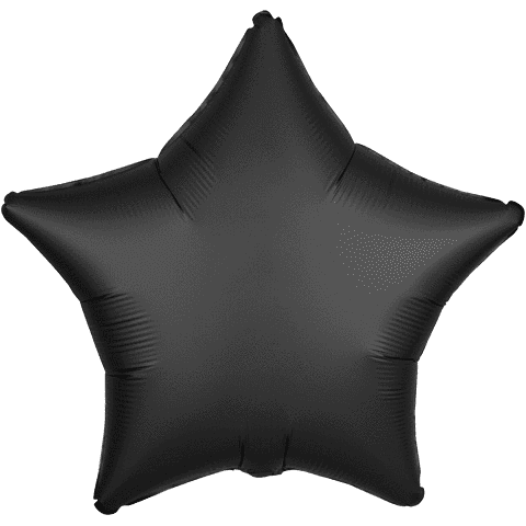 Onyx Satin Star Balloon, 18'' | 1 ct