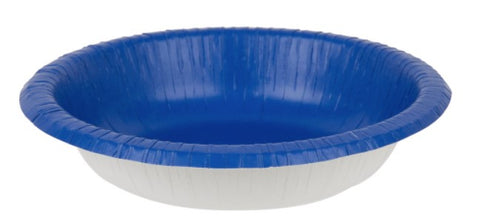 Bright Royal Blue Paper Bowls | 20ct