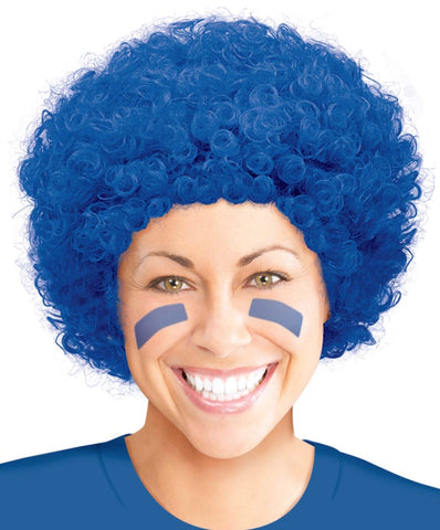 Blue Curly Wig | 1ct