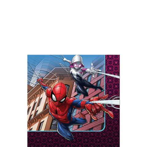 Spider-Man Web Wonder Beverage Napkins |16ct