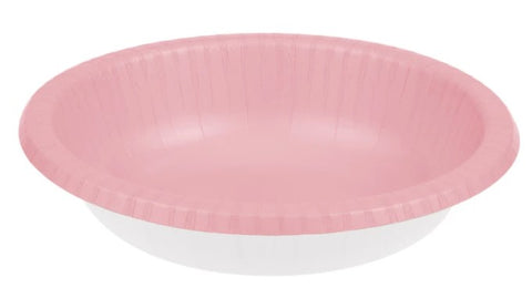 Classic Pink Paper Bowls | 20 ct