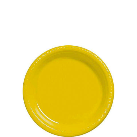 "Yellow Sunshine 7"" Plastic Plates 
