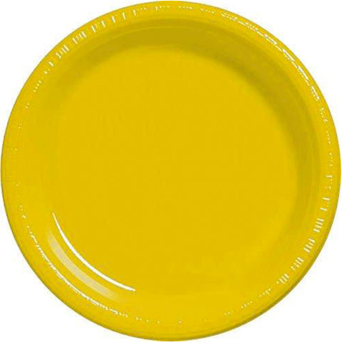 "Yellow Sunshine 10.25"" Plastic Plates 