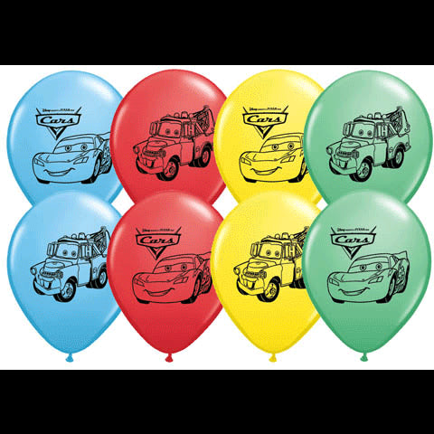 "Disney Cars 12"" Latex Balloon - 6ct"
