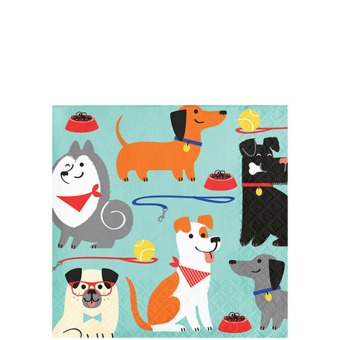 Pawesome Dog Party Beverage Napkins | 16ct