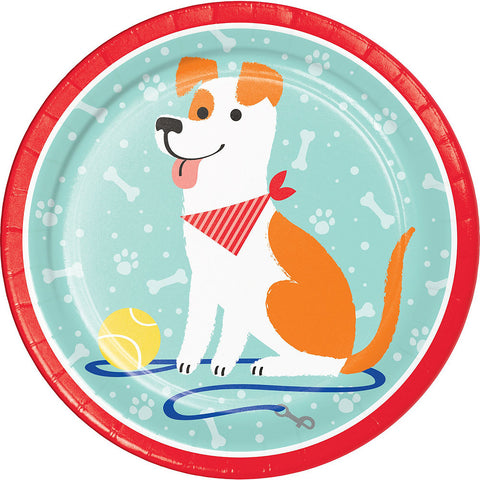 Pawesome Dog Party Lunch Plates 9"