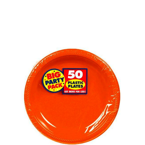 Orange Peel 7'' Plastic Plates | 50ct