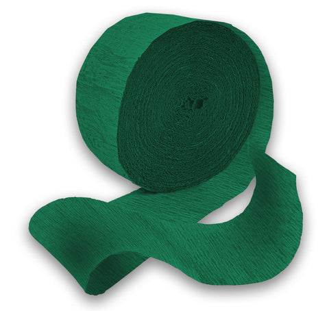 Emerald Green 81' Crepe Paper Streamer