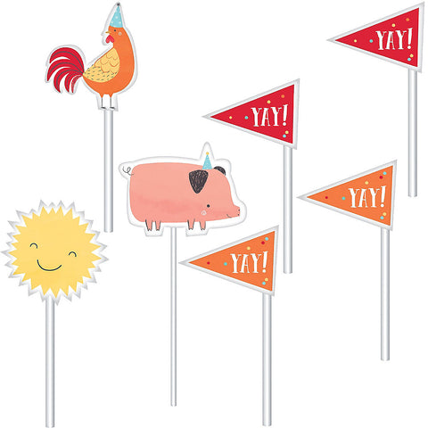 Barnyard Birthday Party Paper Topper Kit  | 12ct