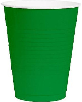 Festive Green 12oz Plastic Cups | 50ct