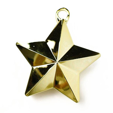 Star Balloon Weight, 6oz, Gold | 1ct.