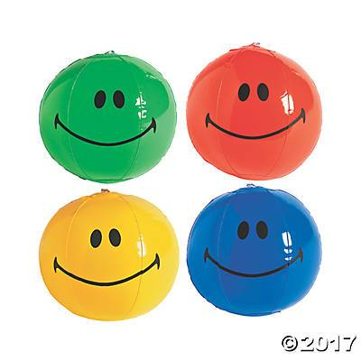 Inflatable Smiley Beach Ball