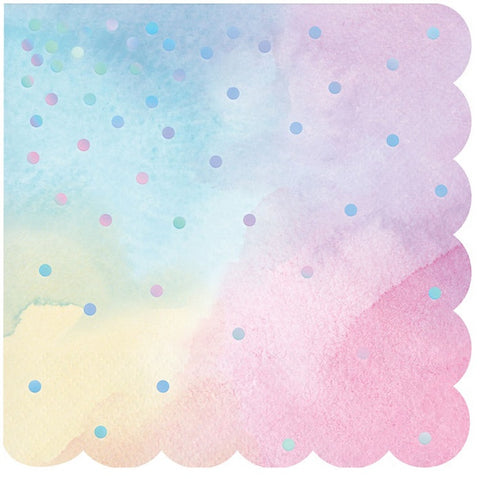 Iridescent Lunch Napkins 6.5"