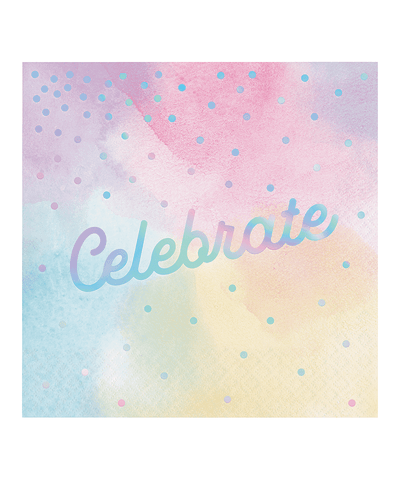 Iridescent Celebrate Lunch Napkins 6.5"