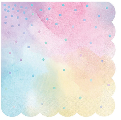 Iridescent Beverage Napkins 5"