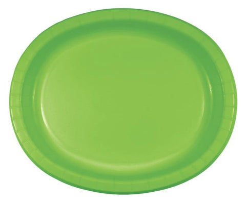Kiwi Oval Dinner Paper Plates | 8ct