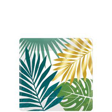 Palm Leaf Dessert Plates, 7"
