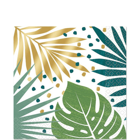 Palm Leaf Lunch Napkins 7"