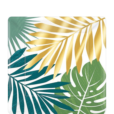 "Palm Leaf Lunch Plates, 10 1/4""' 
