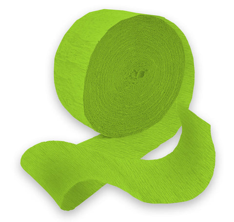 Light Green 81' Crepe Paper Streamer