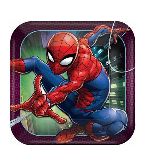 Spider-Man Web Wonder Lunch Plates 9"