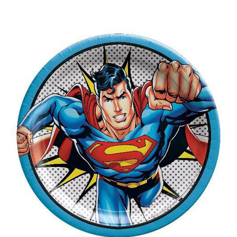 Justice League Superman Lunch Plates | 8ct