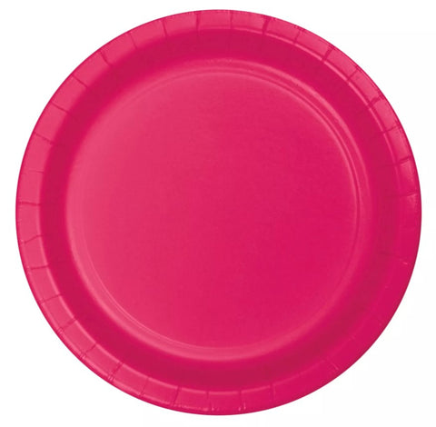 "Hot Magenta Paper 8.75"" Lunch Plates  
