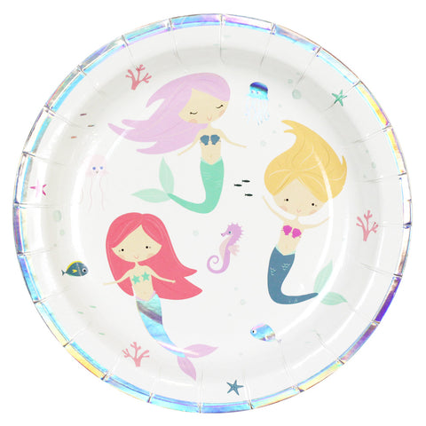 "Iridescent Mermaid 9"" Paper Plates 