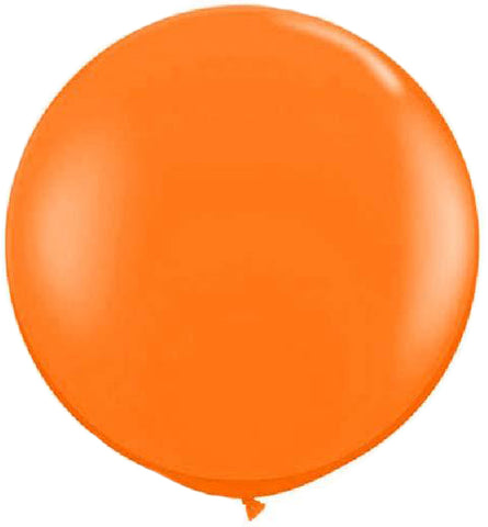 Orange Latex Balloon, 36"